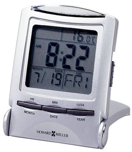 Howard Miller 645358 Distant Time Traveler Alarm Clock, 2-1/4in, Silver, 1 AAA (incl)