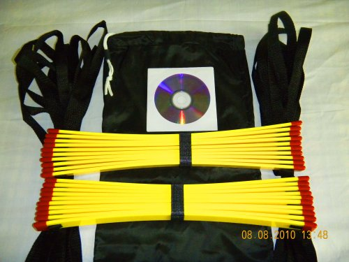 Speed Agility Ladder 34 Feet Long + Speed Drills Dvd, Football Training Equipment + Soccer Quick Foot Training Aid, Good for All Sports