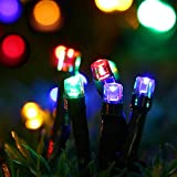 Outdoor Solar String lights, Waterproof 200 LED Fairy Lighting String for Christmas, Home, Garden, Yard, Porch, Tree, Party, Holiday Decoration - Multi Colour, 72FT, 8-in-1 Mode ¡