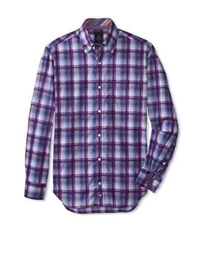 TailorByrd Men's Pialat Check Long Sleeve Shirt