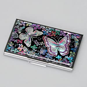 Amazoncom mother of pearl womens business credit name for Womens business card case