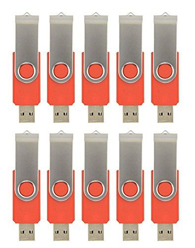 FEBNISCTE USBメモリー レッド 128MB(128GBではありません) 低容量 スイング式 卸売(10個セット)