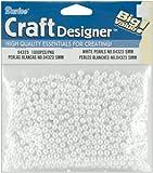 Darice 1000-Piece Round Pearl Bead, 5mm, White