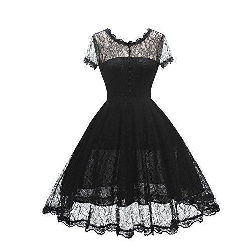 WenDeMiE Vestito di pizzo Modar Donne Europa (0011) (XXL, nero)