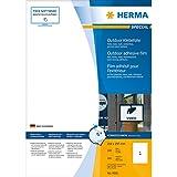 Herma 9501 Etiketten Outdoor Klebefolie A4, 210x297 mm, extrem stark haftend Folie matt wetterfest 50 Stück, weiß