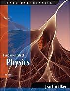 Fundamentals of Physics,  by Halliday