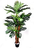 Ginni Bloom Large Artificial Areca Palm Plant - 6 ft, Set of 4 With Vase