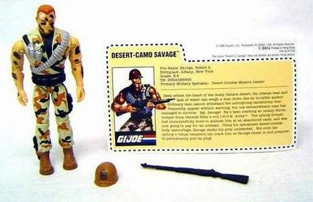 "GI Joe 1993 3 3/4"" Mail Away Desert-Camo Savage Action Figure - 1"