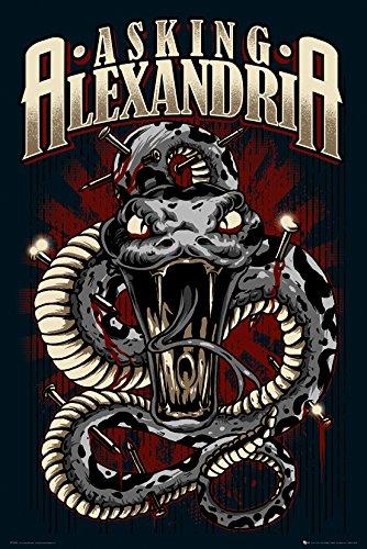GB eye LTD, Asking Alexandria, Snake, Maxi Poster, 61 x 91,5 cm