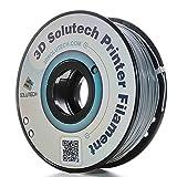 3D Solutech Real Grey 3D Printer PLA Filament 1.75MM Filament, Dimensional Accuracy +/- 0.03 mm, 2.2 LBS (1.0KG) - 100% USA (Color: Gray)