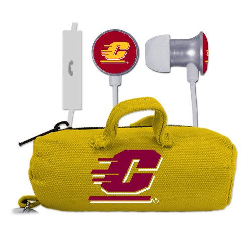 NCAA Central Michigan Chippewas Scorch Earbuds and Mic Clamshell with BudBag
