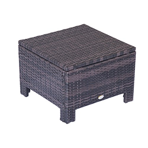 Outsunny-Garden-Patio-Rattan-Furniture-Outdoor-Wicker-Weave-Ottoman-Foot-Stool-Rest-50cmW-x-50cmD-x-35cmH-Brown
