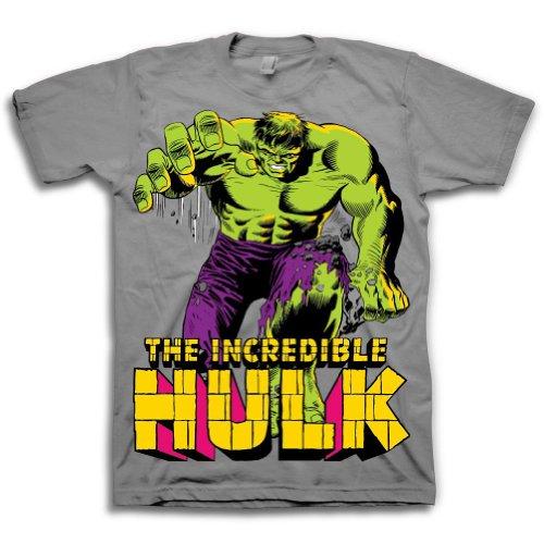 The Incredible Hulk Fist SMASH!-Maglietta a maniche corte, da adulto, colore: nero nero Large