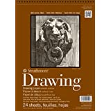 Strathmore (400-107 400 Series Drawing, Smooth Surface, 14x17, 24 Sheets (Color: White, Tamaño: 14x17