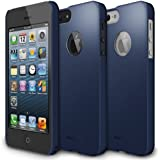[Sf Matte Navy - Logo Cut-out] Ringke Slim for Apple iPhone 5 Sf Premium Hard Case + Logo Protection Film Included for [At&t, Verizon, Sprint, Unlocked , ECO Package]