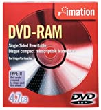 Imation IMN41529 DVD-RAM, 4.7 GB, Single Sided Rewritable