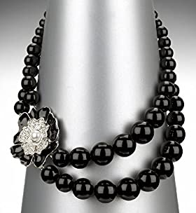 Autograph Sparkle Floral Beaded Necklace - Marks & Spencer
