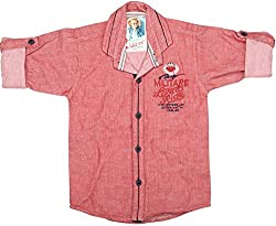 CAY 100% Cotton Red Color Shirt (Size:S)