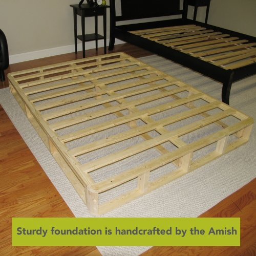 Classic Brands Instant Foundation for Bed Mattress, Easy To Assemble Box Spring, Queen Size