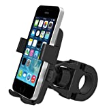 iOttie One-Touch Bike Mount Holder for iPhone 5s/Samsung Galaxy S5/Google Nexus 5 and Compact Size GPS - Retail Packaging - Black