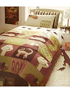 parure housse de couette linge de maison animaux dinosaure. Black Bedroom Furniture Sets. Home Design Ideas