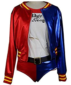 Beauty Costume Suicide Squad Cosplay Costume Harley Quinn Outfit Halloween Suit (S)