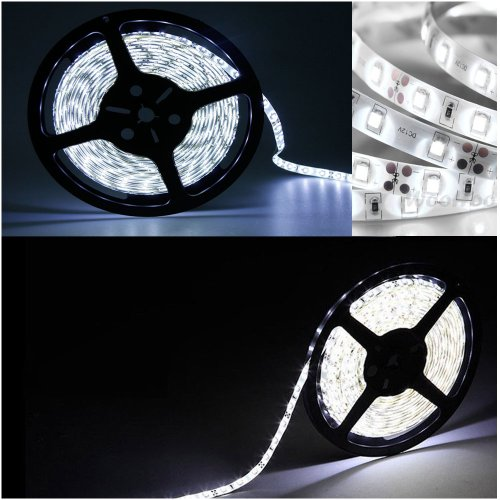 Happy Hours® Non - Waterproof 15 M Smd 3528 120 Led/M Cool White Led Strip Light ,Led Flexible Ribbon Lighting Strip Light Tape Best For Christmas ,New Year ,Home,Birthday Party,Ktv,Bar Decoration, Garden, Indoro & Outdoor Use + 12V Dc