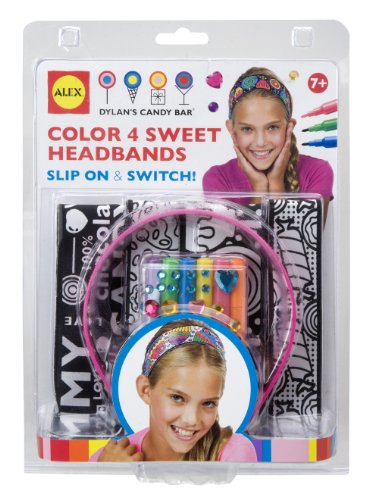 ALEX Toys Dylan's Candy Bar Color 4 Sweet Headbands