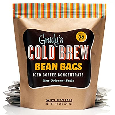 Grady's Cold Brew Iced Coffee Bean Bags (1 pack of 12 bags) 1.5 Lbs (24 Oz) from Grady's Cold Brew