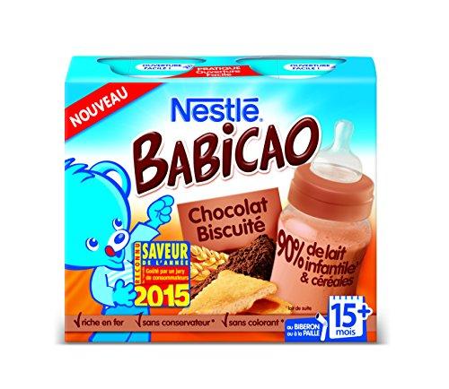 Lait et céréales bébé 15 + mois, chocolat biscuit Nestlé