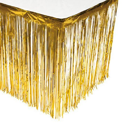 Fun Express Gold Fringe Table Skirt