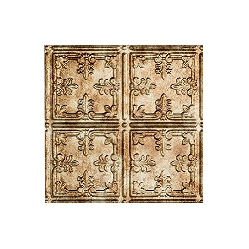 Fasade Easy Installation Traditional 10 Bermuda Bronze Glue Up Ceiling Tile / Ceiling Panel (12