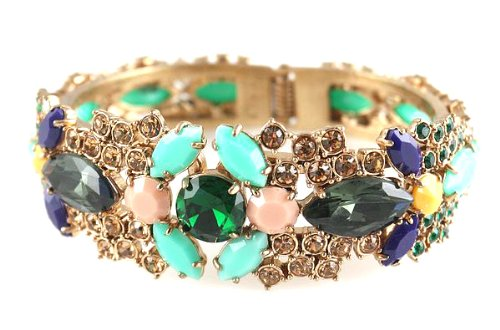 J.CREW Gemstones Cluster Fashion Bangle CLEARANCE