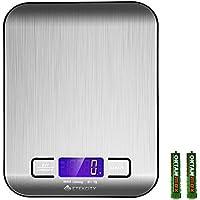 Etekcity 11lb/5kg Digital Multifunction Stainless Steel Kitchen Food Scale (Silver)