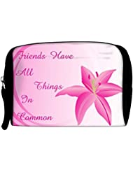 Snoogg Background With Lily Flower Travel Buddy Toiletry Bag / Bag Organizer / Vanity Pouch