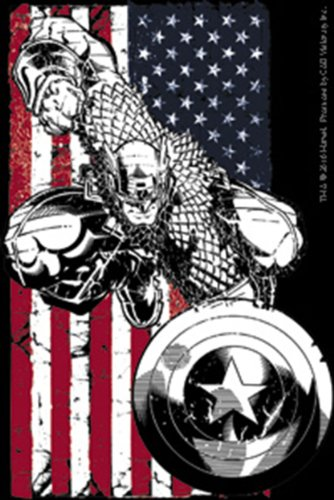 Licenses Products Marvel Extreme Captain America Flag Sticker