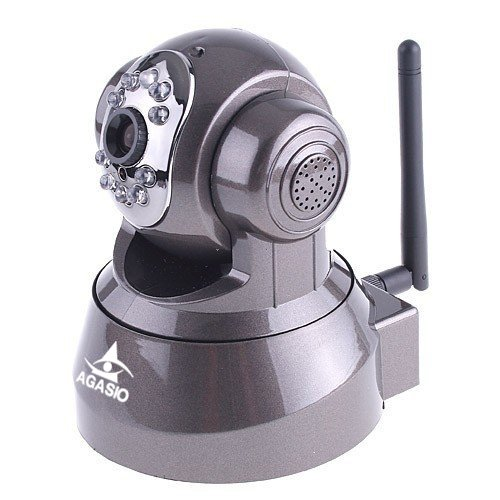 Agasio M166I Wireless Wifi Ip Camera With Ir-Cut Filter, Two-Way Audio, Pan/Tilt, Night-Vision, Email & Ftp Alert, Motion Detection, Ddns And 64 Channel Recording Software front-63529