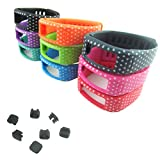 2015 Fashion 9pcs Colorful with White Dots Spots Replacement Wrist Band for Garmin Vivofit(No tracker, Replacement Bands Only),Small