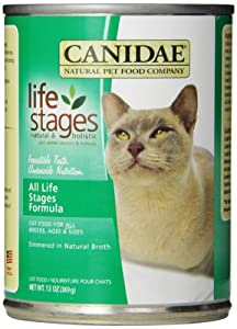Canidae Canned Cat Food for Adult Cats and Kittens, Formula with Chicken, Turkey, Lamb and Ocean Fish (Pack of 12 13 Ounce Cans)