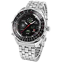 Mix&Rock SHARK NA ver Men Luxury LCD Digital Sport Army Quartz Alarm Sport Wrist Watch