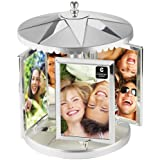 CUPECOY DESIGN Swivel Metal Carousel, Holds Eight 4 by 6 Photos