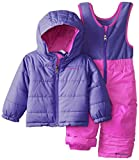 Columbia Baby-Girls Infant Double Flake Reversible Set, Groovy Pink/Purple Lotus, 12-18 Months