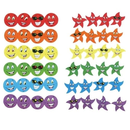 Trend Enterprises Stinky Stickers, Smiles/Stars, Photo Safe, 648 Stickers/PK SKU-PAS944706