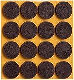 peha® Filzgleiter, selbstklebend, rund, Ø=22mm, braun (16 Stück)