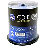 HP Light Scribe CD-R 80 min 700MB 52X 100 Pack Blank Discs in Spindle