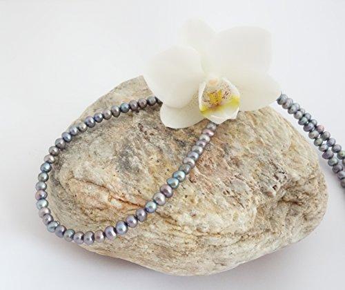 """Occhiali Band/occhiali collana in perle coltivate acqua dolce """"grigio"""" BZ-1013"""