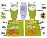 Ohana Magic French Fry Cutter Onion Chopper Vegetable Potato Slicer Nicer Dicer, 2 Storage Containers + FREE Peeler, Recipe e-Book