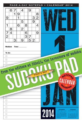 Sudoku Page-a-Day Notepad and 2014 Calendar