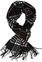 Classic Cashmere Feel Men's Winter Scarf in Rich Plaids
