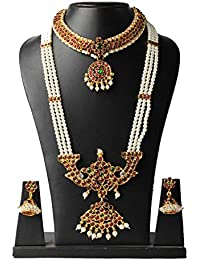 Traditional Jewellery Set For All Accations Grand Look Antique Collection For Women By Manav Company
